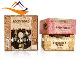 Plätzchen-Biskuit-Kuchen-verpackenden Papierkasten für Biskuit anpassen