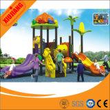 Da corrediça plástica barata plástica dos jogos dos miúdos campo de jogos ao ar livre para o parque de diversões