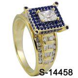 다이아몬드를 가진 형식 보석 925 순은 반지