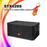 Stx828s Dual do '' caixa do altofalante do sistema Subwoofer PA 18