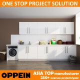 Cabinas de madera del lavadero de la laca blanca del proyecto del chalet de Oppein Australia (OPW-L01)