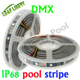 IP68 DMX512 Digital Strip color ideal de Gaza SMD5050 RGB direccionable Gaza DC12V 24V Magia de Gaza