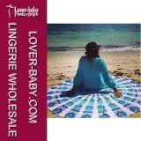 浜の曼荼羅円形タオル毛布(L38349-2)