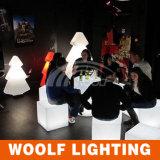 Asiento plástico del cubo del RGB LED de los muebles del LED