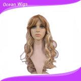 Parrucca sintetica di stile ondulato più lungo a colore differente
