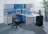 Werkstation van de Computer van het Bureau van twee Zetels het Ergonomische Professionele Nuttige (sz-WST631)