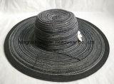 Sombrero grande de la trenza del poliester de Floopy del estilo de la playa del borde
