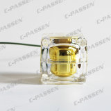 Frascos e frascos de cristal do creme da série do ouro acrílico para o empacotamento do cosmético (PPC-NEW-008)