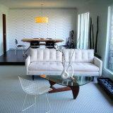 Panneau de mur plus intense imperméable à l'eau de PVC 3D pour la décoration intérieure