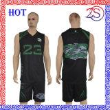 مصنع الصين ملابس رياضيّة صنع وفقا لطلب الزّبون تصميم أخضر وسوداء كرة سلّة جرسيّ