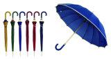 16 Rippe-Steuerknüppel-manueller Rand-hölzerner Regenschirm (YS-SM25163416R)