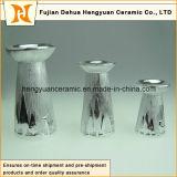 Più Style di Silver Ceramic Candlestick in Christmas Design