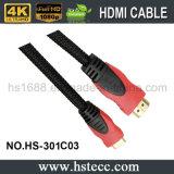Mini HDMI cable de alta velocidad del PVC para las consolas del juego