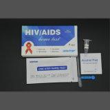 Kit domestici della prova del HIV con la strumentazione del rilievo dell'alcool & della lancetta