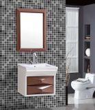 Cabinet de salle de bains imperméable à l'eau fixé au mur simple avec le miroir