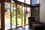 Дверь K06027 наклона & поворота алюминиевого деревянного профиля высокого качества внутренная