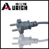 PVC Balck do Pin 0.75mm2 de Coreia 3 em torno do cabo de potência elétrico da chaleira do Skillet do Kc