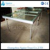 Passerelle en verre d'étape d'étape en aluminium de mariage/étape acrylique portative/étape en verre mobile