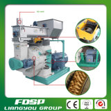 1-2tph Cotton Husk Pelletizer Machine / Ring Die Wood Pellet Mill Preço