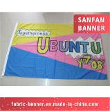 Contexto que anuncia a bandeira da tela da impressão do produto a bom preço