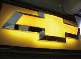 Logotipo fixado na parede feito sob encomenda do carro do diodo emissor de luz 3D