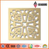 Panneau perforé en aluminium découpé par commande numérique par ordinateur de modèle d'Ideabond pour la décoration extérieure de décoration de plafond du fournisseur de la Chine