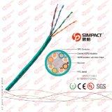 Réussir le câble de réseau de l'essai UTP Cat5e de flet