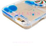 方法iPhone5/6/6plusのための回転コンパスのPinkwheelの流れる液体オイルの電話箱