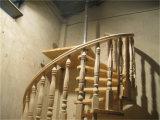 Самомоднейшая стальная лестница древесины киля строительных материалов
