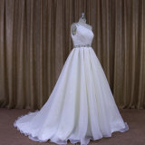 251 довольно одно платье венчания Organza плеча Bridal для тучных женщин