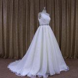 Fat Womenのための251きれいなOne Shoulder Organza Bridal Wedding Dress