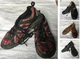 Zweite Handlederne Schuhe, verwendeter Mens bereift Grossisten (FCD-005)