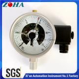 Manómetros elétricos fotoelétricos do contato do aço inoxidável