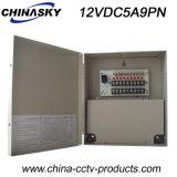 Cadre de distribution d'énergie des 9 Manche pour C.C 5A (12VDC5A9PN) des caméras de sécurité 12V
