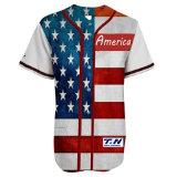 Neuer Ineinander greifen-Rückschritt fertigen Baseball-Hemd-Baseball-Jersey-Großverkauf kundenspezifisch an