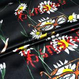 tela de seda impresa reactiva del satén de Crepe del 114cm
