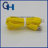 Micro Cable Factory Fournisseur OEM gratuit Logo USB fils colorés Câble USB pour iPhone Samsung