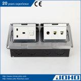 IP44 waterdichte van het Aluminium van de Toegang van de Vloer van het Vakje en van het Bureau van de Contactdoos 13A Britse van de Afzet Cat5e- Audio
