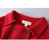 ウールの女の子の衣服の冬の子供の上着類
