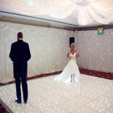 draagbare Tempered Glass Door sterren verlicht LED Dance Floor voor Wedding