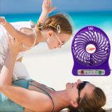 Mini ventilatore ricaricabile portatile con la batteria chiara del LED