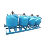 Automatischer Überbrückungs-Filtration-Sandfilter für verteilendes Wasser