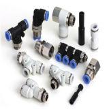 Válvulas pneumáticas da mão (HVFF HVSS etc.) conetor da câmara de ar de duas ou três maneiras pneumático