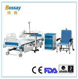Funktions-elektrisches geduldiges Bett der China-Krankenhaus-Möbel-fünf