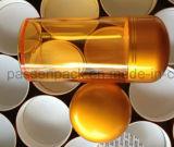 Frasco plástico ambarino do empacotamento farmacêutico para a cápsula (PPC-PETM-016)