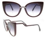 2016 lunettes de soleil polarisées par acétate italien de plot réflectorisé de Dseign de mode