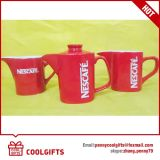 De aangepaste Rode Goedkope Ceramische Kop van de Koffie voor de PromotieGift van de Supermarkt