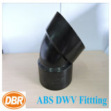 4 pouces Taille ABS Dwv Fitting 1/8 Short Bend