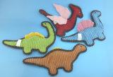 Brinquedo enchido macio do animal de animal de estimação do luxuoso com corda e Squeaker