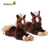 Mouth Movement Swing Tail Plush Rocking Horse Toy in Unique Design From Factory